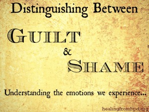 guilt and shame emotions